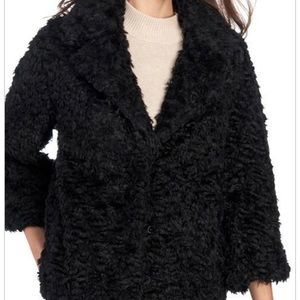 Max studio curly faux fur coat